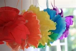 decoration papier de soie fashion designs With chambre bébé design avec perforatrice géante fleur