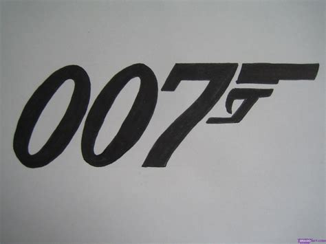 How To Draw The 007 Logo, Step By Step, Movies, Pop