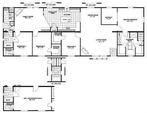 3 bedroom rv floor plan manufactured homes clayton sed blue home rv and