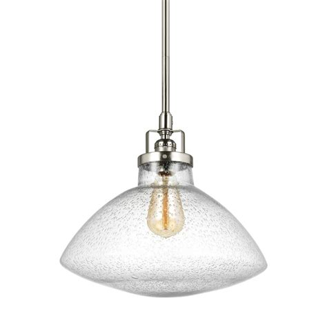 seagull lighting pendant sea gull lighting belton 1 light brushed nickel pendant