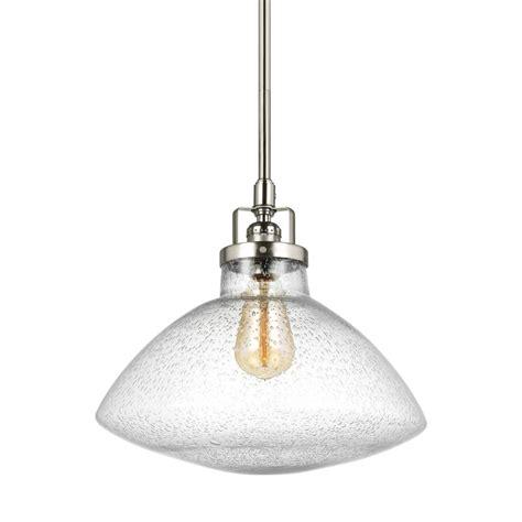 sea gull lighting belton 1 light brushed nickel pendant