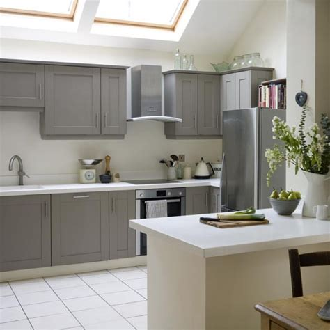 grey shaker cabinets kitchen take a tour of this modern shaker kitchen grey painted