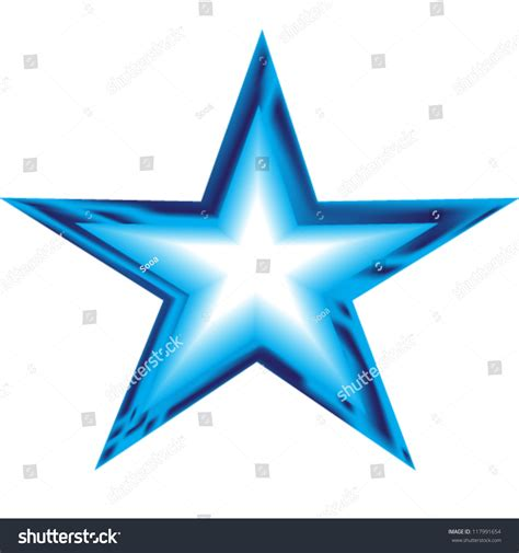 Blue Star Illustration Stock Vector 117991654 Shutterstock