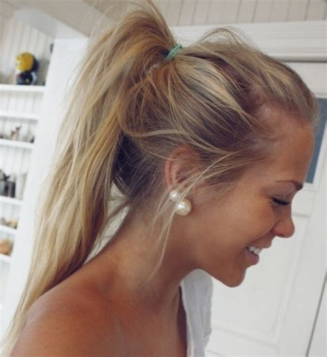 cute sloppy hairstyles cute messy ponytail for girls easy hairstyle for sports