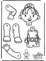 Puppet Bob Builder Coloring Pull Pages Bouwer Trekpop Paper Puppets Funnycoloring Bobs Cuerpo Humano Colouring Kreativitet Activities Gemerkt Von Coloringhome sketch template
