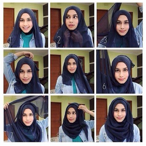 quick simple hijab tutorial  school ideas hijaab