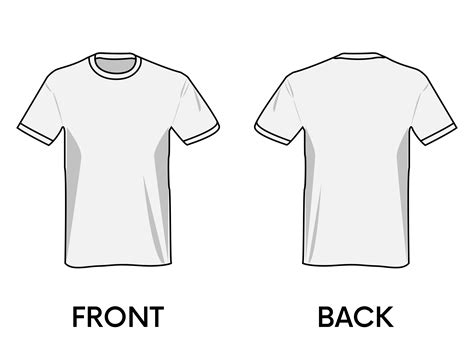 Tshirt Template Png by Clipart T Shirt Template