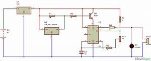 Magnetic Door Alarm Circuit Diagram Using Hall Sensor And