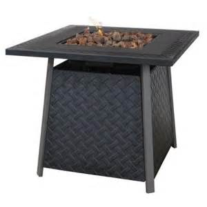 uniflame 32 in propane gas fire pit gad1325sp the home