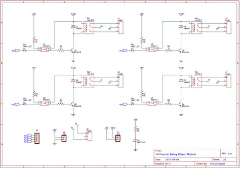 Channel Relay Driver Circuit Pcb Design