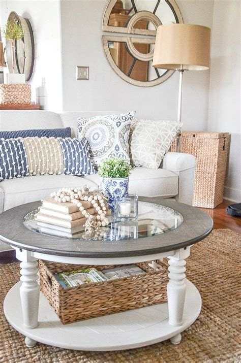 To help you achieve style success, i've put together some helpful guidelines with specific situations so you can master the art of decorating a coffee table. STYLE A ROUND COFFEE THE EASY WAY | Table decor living room, Decorating coffee tables, Decor