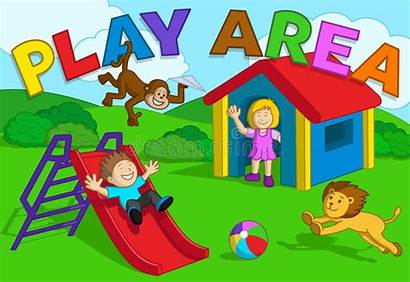Area Play Vector Outdoor Playing Royalty Illustration