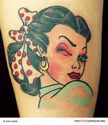 Traditional Old School Tattoos   Gypsy  Anchor  Ship  Pin Up And      Traditional Pin Up Tattoos Designs