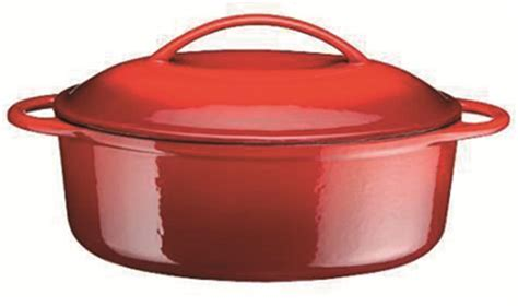 cocotte en fonte ovale 28 cm 2 litres tom press