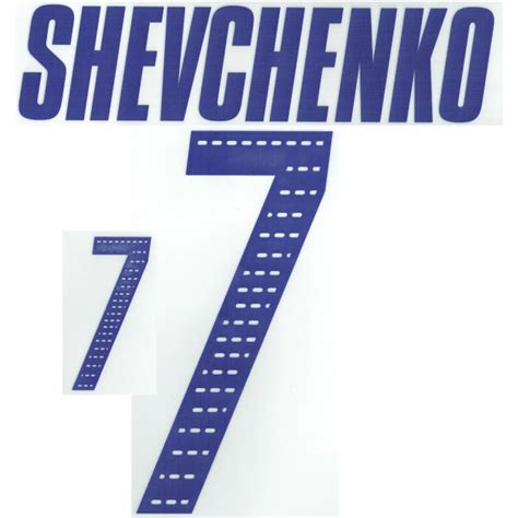Milan, before he moved to chelsea. Shevchenko 7 05-06 Ukraine Home Official Name and Number