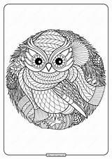 Coloring Owl Printable Pdf Tweet Whatsapp sketch template