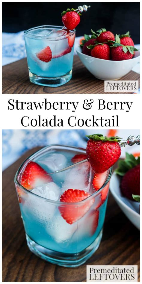easy strawberry berry colada cocktail recipe