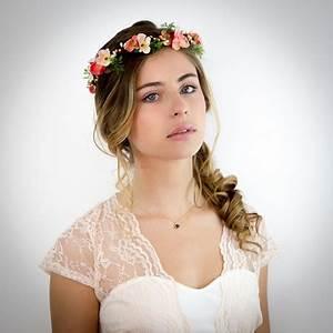 Couronne De Fleurs Mariée : couronne fleurs cheveux mariage ~ Farleysfitness.com Idées de Décoration