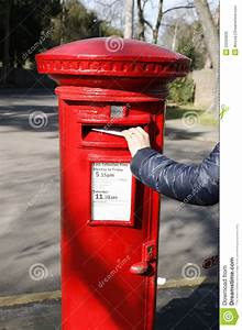 Traditional British Red Post Box Stock Image