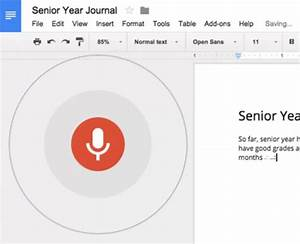 One handed typing better living through technology for Google docs dictation