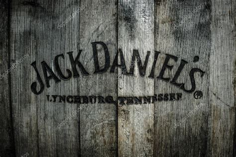 Burned Logo Of The Famous Jack Daniels Whiskey At The Old