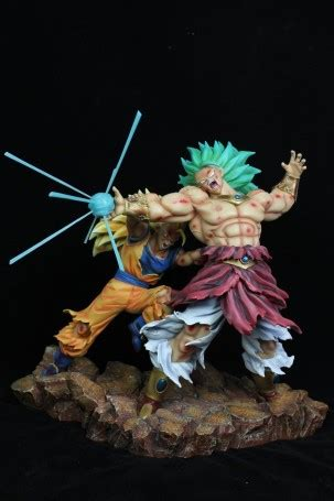 dragonball goku   broly  battle scene resin statue
