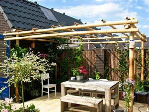 How to build a bamboo pergola for Whirlpool garten mit balkon pergola