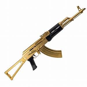 TSS TSS AK-47 AKM 7.62×39 24 Karat Gold Plated