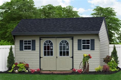 Amish Sheds Island by 10x16 Amish Vinyl Shed For Island Traditional