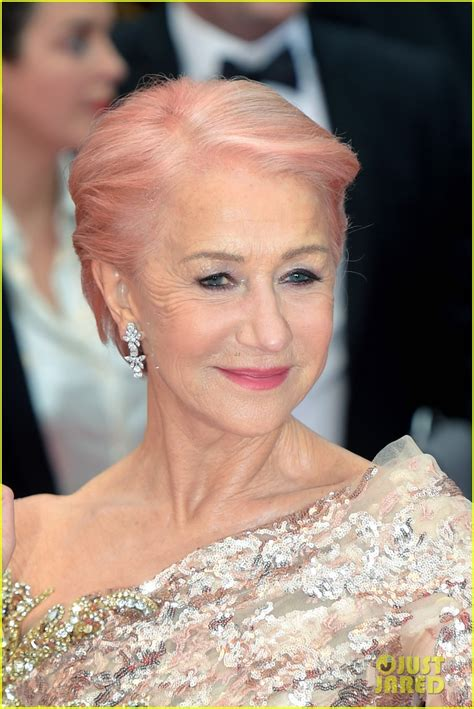 Helen Mirren Debuts New Pink Hair At Cannes Film Festival
