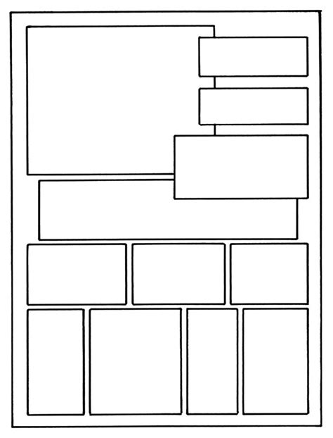 printable comic book template  word pages