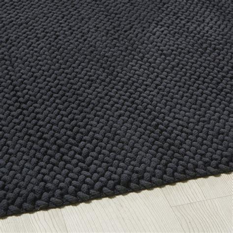 tapis en coton tresse gris anthracite  noe maisons du monde