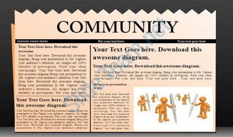 powerpoint newspaper templates  sample