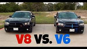 Dodge Charger R  T Vs  Dodge Charger Sxt  V8 Vs  V6  Racing