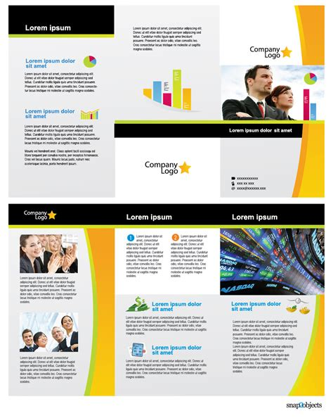 Free Downloadable Brochure Templates by Free Illustrator Brochure Templates The Best