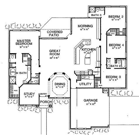 ranch style house plan  beds  baths  sqft plan   design  dream house
