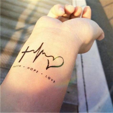 faith hope love heartbeat tattoo  images cool