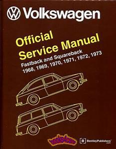Volkswagen Shop Manual Service Repair 1600 Squareback Bentley Type 3 Book