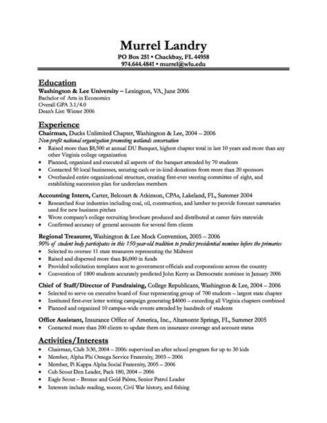 Exle Resume For Consultant by Resume Sles Sports Consultant Resume
