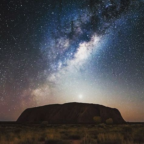 Uluru Under The Beautiful Milky Way