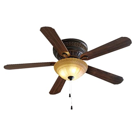 shop allen roth 52 in duncan rubbed bronze ceiling fan with light kit at lowes
