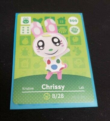 Shop with afterpay on eligible items. CHRISSY #300 Animal Crossing Amiibo AUTHENTIC Nintendo Card- Series 3, Unused.   eBay