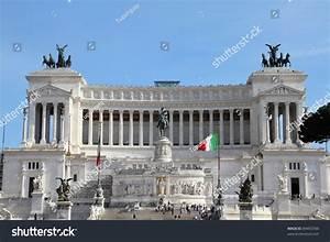 Rome Italy Famous Vittoriano Gigantic Equestrian Stock ...