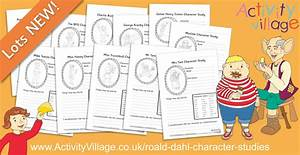 Fun Character Study Worksheets For Your Favourite Roald