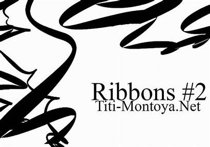 Ribbon Photoshop Ribbons Brushes Swirl Brush Awareness