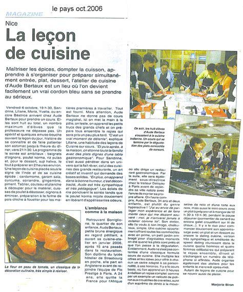 articles de cuisine articles de presse cuisine sur cours