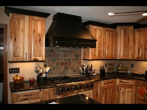 rustic hickory kitchen cabinets rustic hickory cabinets