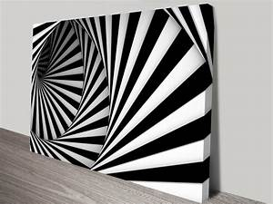 Abstract Circular Stairs Artwork on Canvas