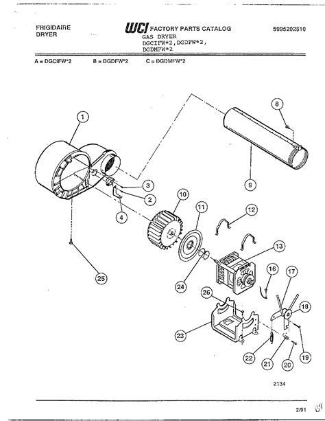 frigidaire gas dryer frigidaire electric dryer parts dgdmfw 2 searspartsdirect