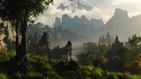 fantasy landscape wallpaper page    wallpapercom